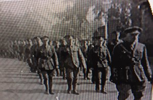 I believe that js Grandad in view  behind the officers. Acrington Observer photo